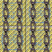 Iron Chains With Glazed Tiles Seamless Texture Poster