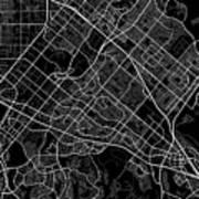 Irvine California Usa Dark Map Poster