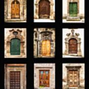 Italian Doors Poster