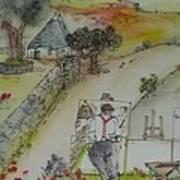 Italian  Landscape Scroll Poster