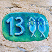 Jaffa, Pisces Zodiac Street Sign  Poster