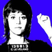 Jane Fonda Mug Shot - Blue Poster