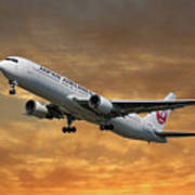 Japan Airlines Boeing 767-346 Poster