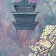 Japanese Spring Scene Poster