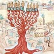 Jerusalem -watercolor On Parchment Poster