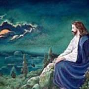 Jesus Praying Poster