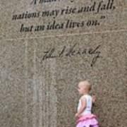 John F. Kennedy Memorial Poster