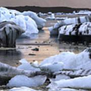 Jokulsarlon Glacier Lagoon Iceland 2050 Poster