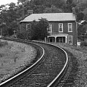 Jonesborough Tennessee - Curved Train Tracks Poster