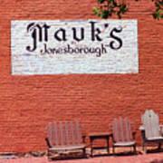 Jonesborough Tennessee Mauk's Store Poster
