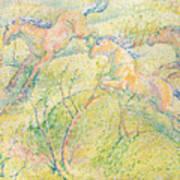 Jumping Horses Poster