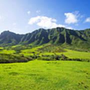 Kaaawa Valley And Kualoa Ranch Poster by Dana Edmunds - Printscapes