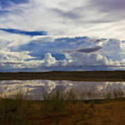 Kalahari Rain Dance Poster by Basie Van Zyl