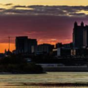 Kansas City Sunrise From Kaw Point Poster