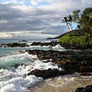 Ke Lei Mai La O Paako Oneloa Puu Olai Makena Maui Hawaii Poster by Sharon Mau