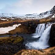 Kirkjufellsfoss Waterfalls Iceland Poster