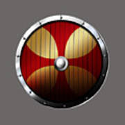 Knights Templar Shield Poster