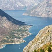 Kotor Bay In Montenegro Poster