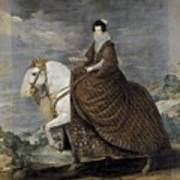 La Reina Isabel De Borbn A Caballo Diego Rodriguez De Silva Y Velazquez Poster