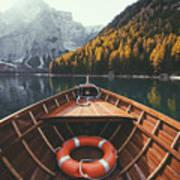 Lago Di Braies Poster