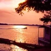 Lake Chicot Sunset Poster