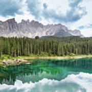Lake Of Carezza - Italy Poster