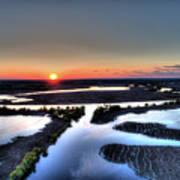 Lake Poygan Sunset Poster