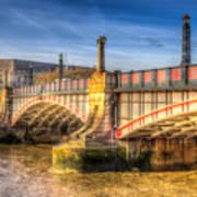 Lambeth Bridge London Poster