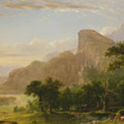 Landscape Scene From Thanatopsis Poster