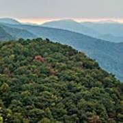 Landscape View At Cedar Mountain Overlook Poster