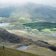 Landscape View Of Llyn Cwellyn And Moel Cynghorion In Snowdonia  Poster