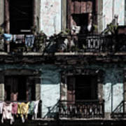 Laundry Day In Havana Poster