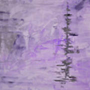 Lavender Gray Abstract Poster