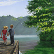 Let's Go Fishing Poster