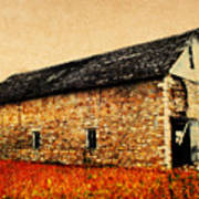 Lime Stone Barn Poster by Julie Hamilton