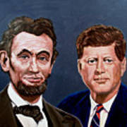 Lincoln And Kennedy Poster