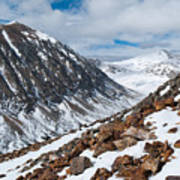Lincoln Peak Winter Landscape Poster