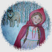 Little Red Riding Hood  Poster by The Art With A Heart By Charlotte Phillips