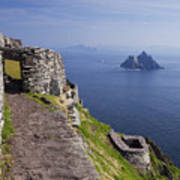 Little Skellig Island, From Skellig Michael, County Kerry Ireland Poster
