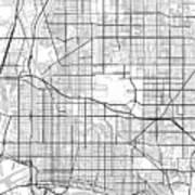 Long Beach California Usa Light Map Poster