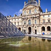Louvre Museum Architecture Paris Poster