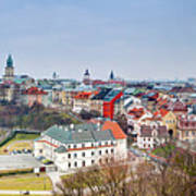 Lublin Old Town Panorama Poland Poster