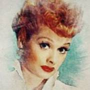 Lucille Ball, Vintage Actress Poster