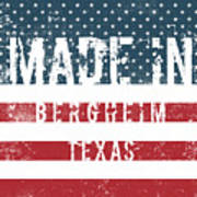 Made In Bergheim, Texas Poster
