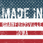 Made In Crawfordsville, Iowa Poster