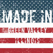 Made In Green Valley, Illinois Poster