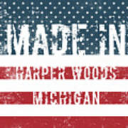 Made In Harper Woods, Michigan Poster