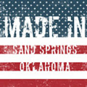 Made In Sand Springs, Oklahoma Poster