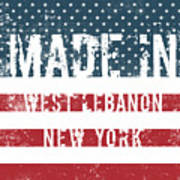 Made In West Lebanon, New York Poster