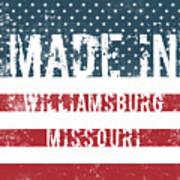 Made In Williamsburg, Missouri Poster